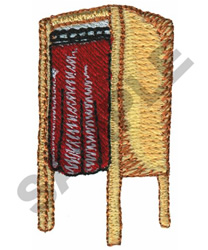 ELECTION BOOTH embroidery design