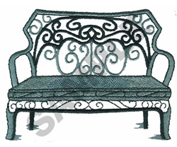 IRON LOVESEAT embroidery design