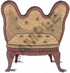 VICTORIAN LOVESEAT embroidery design