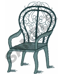 IRON CHAIR embroidery design