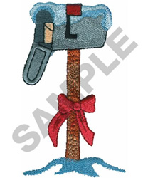 DECORATED MAILBOX embroidery design