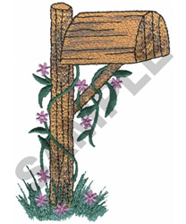 FLORAL MAILBOX embroidery design