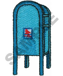 USPS MAILBOX embroidery design