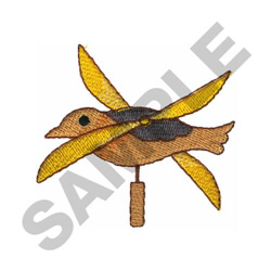 BIRD WINDMILL embroidery design