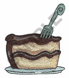 SLICE OF CAKE embroidery design