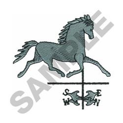 HORSE WEATHER VANE embroidery design