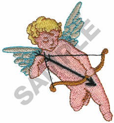 CUPID W/ BOW & ARROW embroidery design