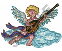 CUPID W/ INSTRUMENT embroidery design