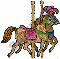 CAROUSEL HORSES embroidery design