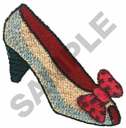 PUMP SHOE WITH BOW embroidery design