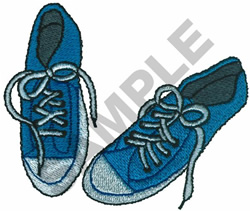 BLUE TENNIS SHOES embroidery design