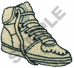 HIGHTOP TENNIS SHOE embroidery design