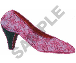 PINK PUMP SHOE embroidery design