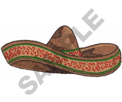 MEXICAN SOMBRERO embroidery design