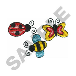BUGS embroidery design