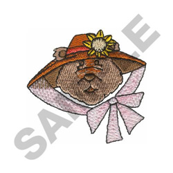 BEAR WITH HAT embroidery design