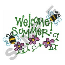 WELCOME SUMMER! embroidery design