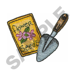 SEEDS AND SHOVEL embroidery design