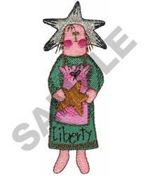 LIBERTY DOLL embroidery design
