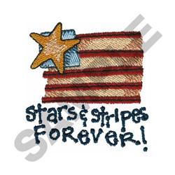 STARS & STRIPES FOREVER! embroidery design