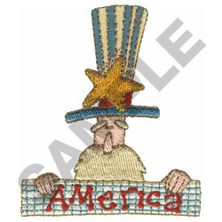 OLD MAN AMERICA embroidery design