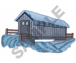 SNOW COVERED BRIDGE embroidery design