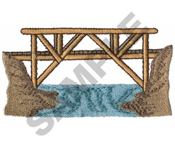 WOODEN BRIDGE embroidery design