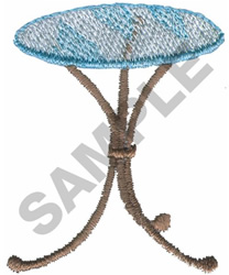 GLASS TOP TABLE embroidery design