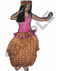 HAWAIIAN HULA DANCER embroidery design