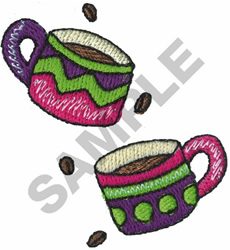 COFFEE CUPS embroidery design