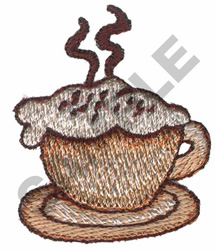 LATTE CUP embroidery design