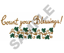 COUNT YOUR BLESSINGS! embroidery design