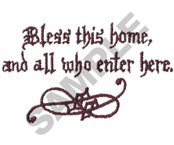 BLESS THIS HOME, AND ALL... embroidery design