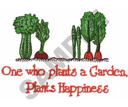One Who Plants a Garden embroidery design