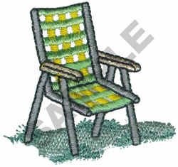 LAWN CHAIR embroidery design