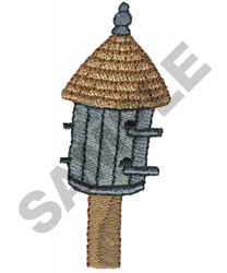 STRAW DOME BIRDHOUSE embroidery design