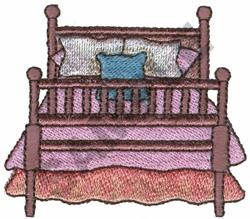COZY BED embroidery design