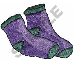 SOCKS embroidery design