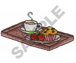 BREAKFAST TRAY embroidery design