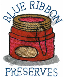 BLUE RIBBON PRESERVES embroidery design
