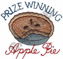 PRIZE WINNING APPLE PIE embroidery design