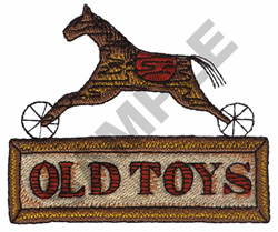 OLD TOYS embroidery design