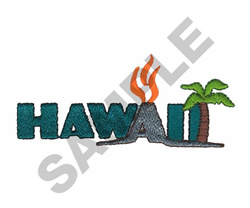 HAWAII embroidery design