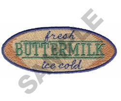 FRESH BUTTERMILK ICE COLD embroidery design