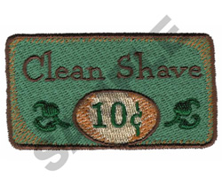 CLEAN SHAVE embroidery design