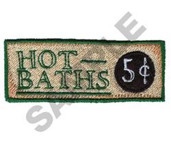 HOT BATHS embroidery design