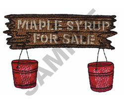 MAPLE SYRUP FOR SALE embroidery design
