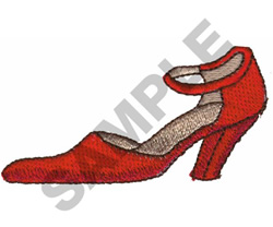 HIGH HEEL SHOE W/STRAP embroidery design