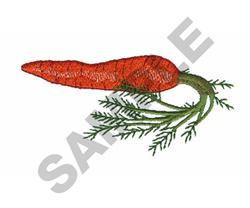 Carrot Vegetable embroidery design