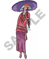 FRENCH WOMAN embroidery design